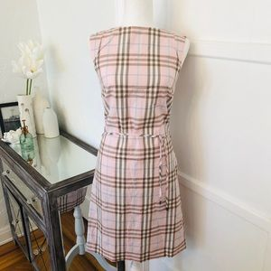 Burberry Pink Plaid Sleeveless Dress